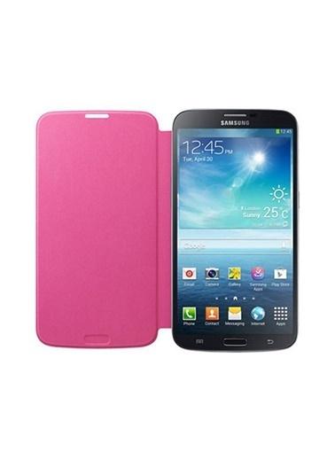 Samsung Samsung I9200 Galaxy Mega Flip Cover Orjinal Kılıf - Pembe (Outlet) Renkli